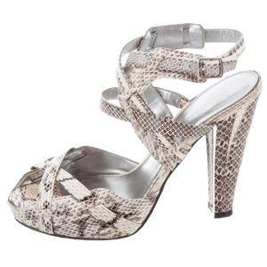 Calvin Klein Snakeskin Parma Platform Heel Size 8
